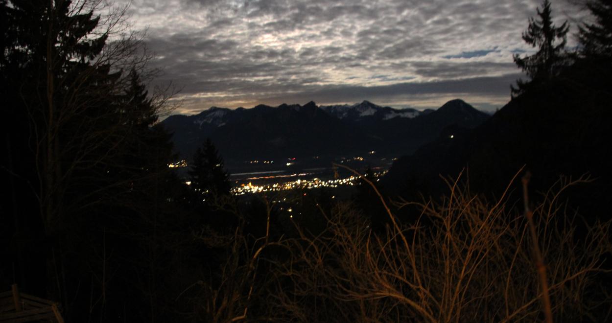 nächtlicher Ausblick Breitenberghütte