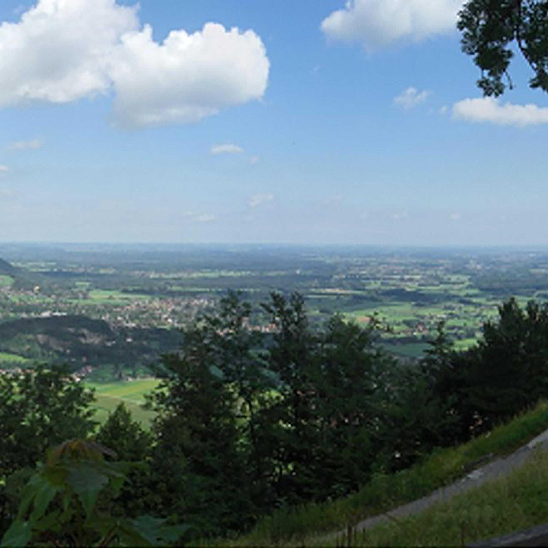 Ausblick Brannenburg Flintsbach, Inntal, Hohe Asten