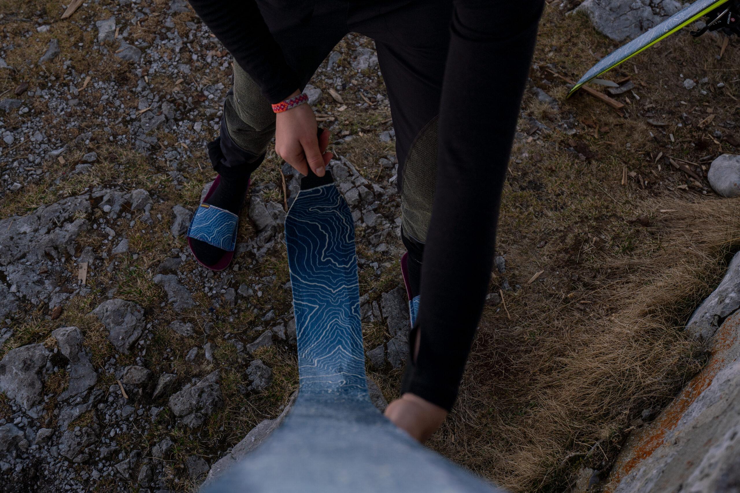 Auftragen des Skifells