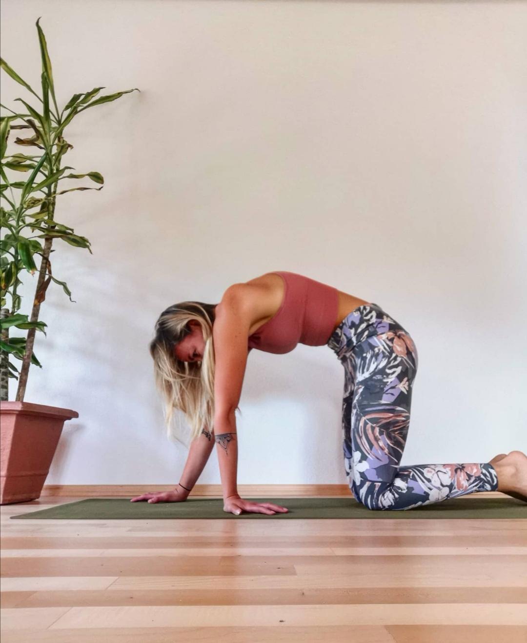 Tamara Lohr CatCow Stretch Yoga