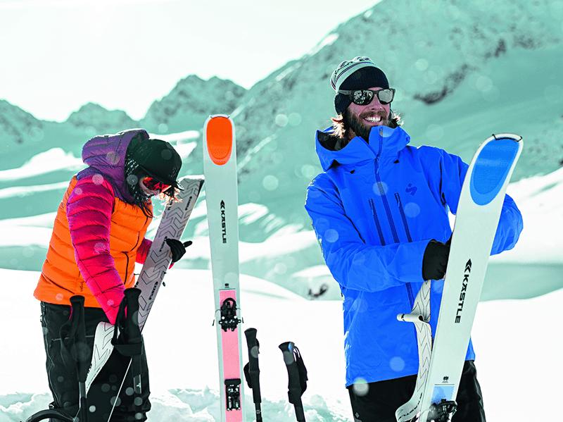 Skitouren und yoga - Skitourengeher