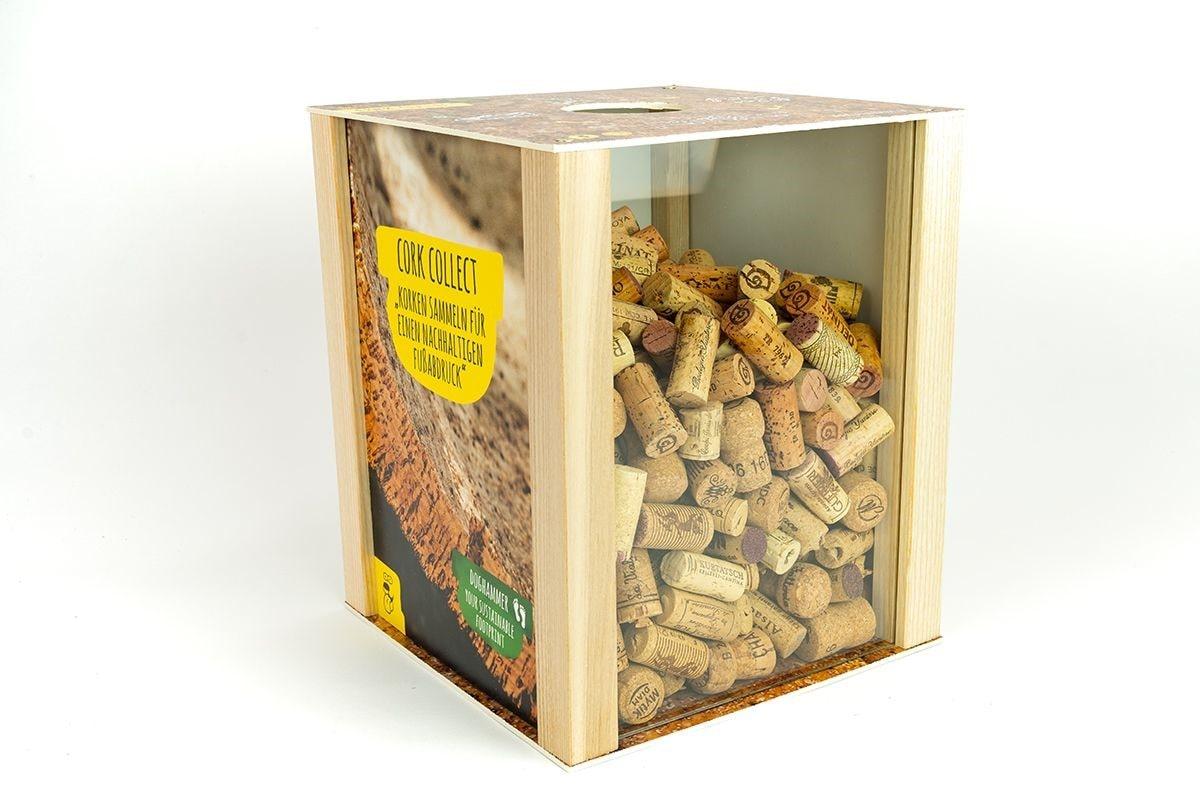 Cork Collect Box für gesammelte Weinkorken