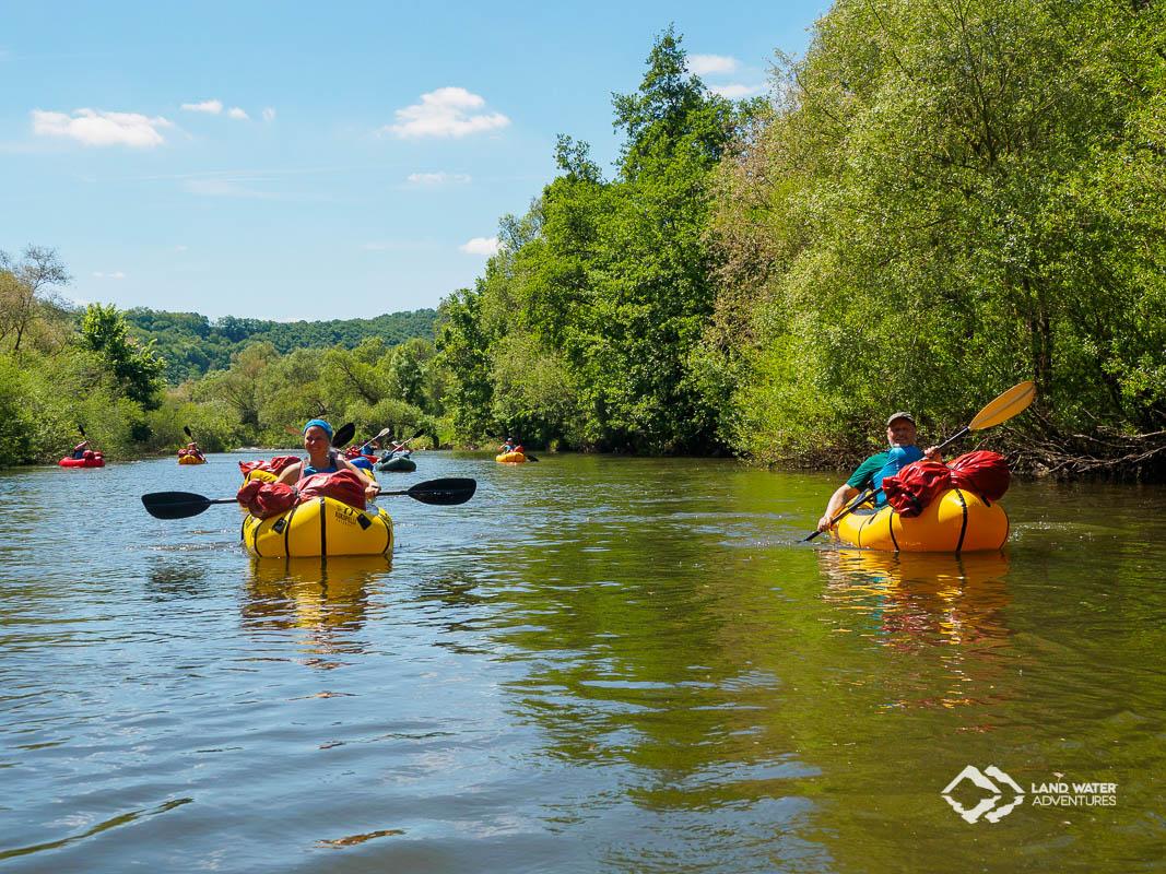 Packraftingtour Nahe mit Landwateradventures