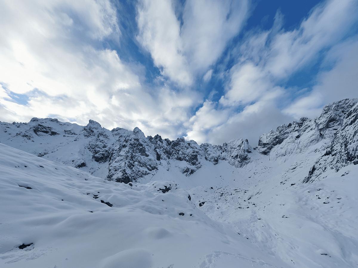 Ausblick auf der Wanderung auf die Fritzpflaum Hütte