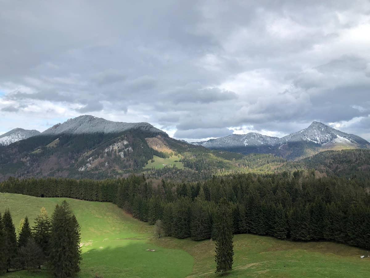 Blick auf den Feichteck und Spitzstein Gipfel