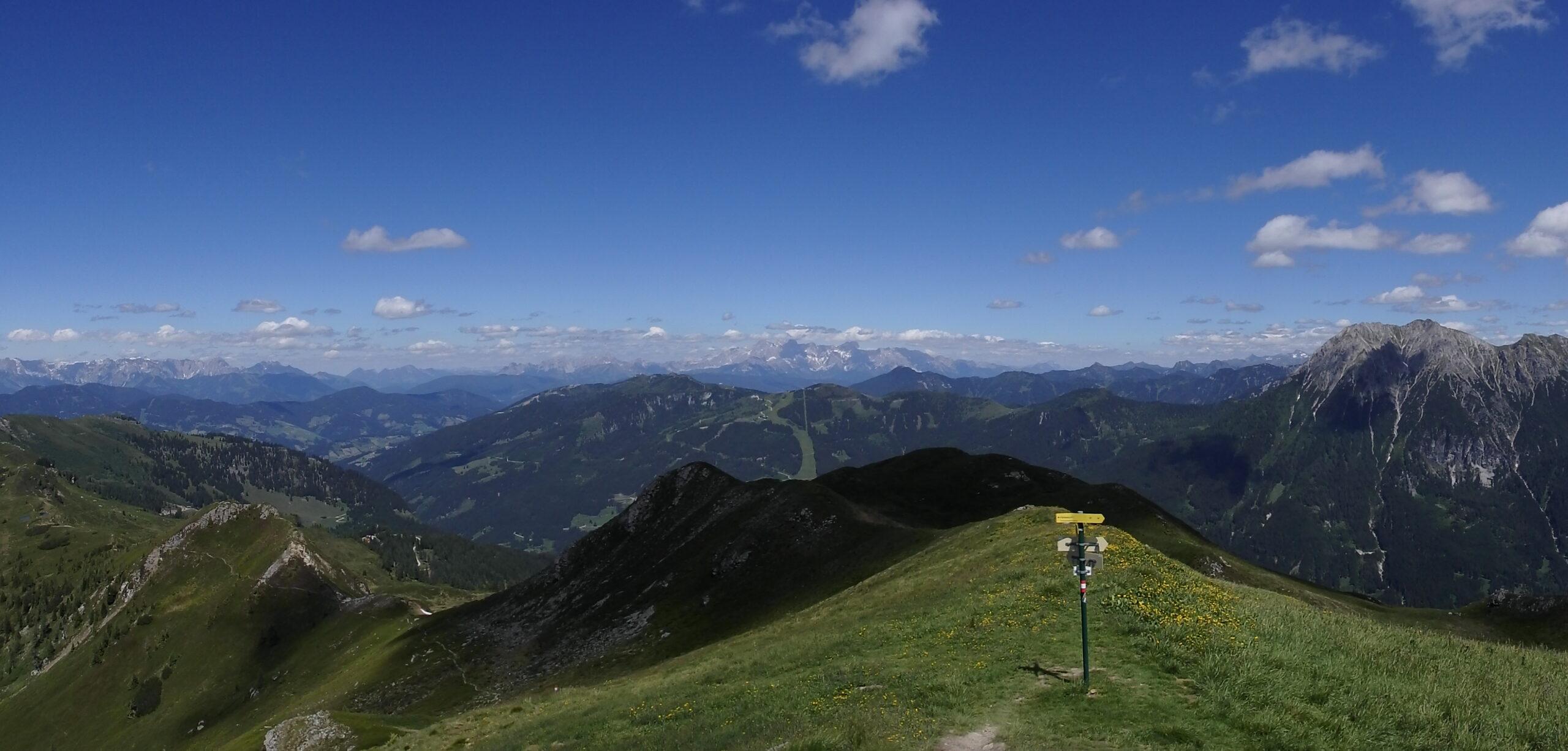 Ausblick Salzburger Almenweg Unterwandalm