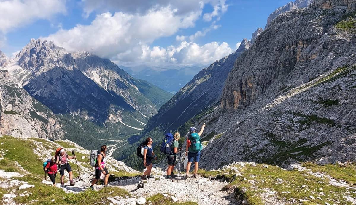 Wanderung Nicole mit Gruppe