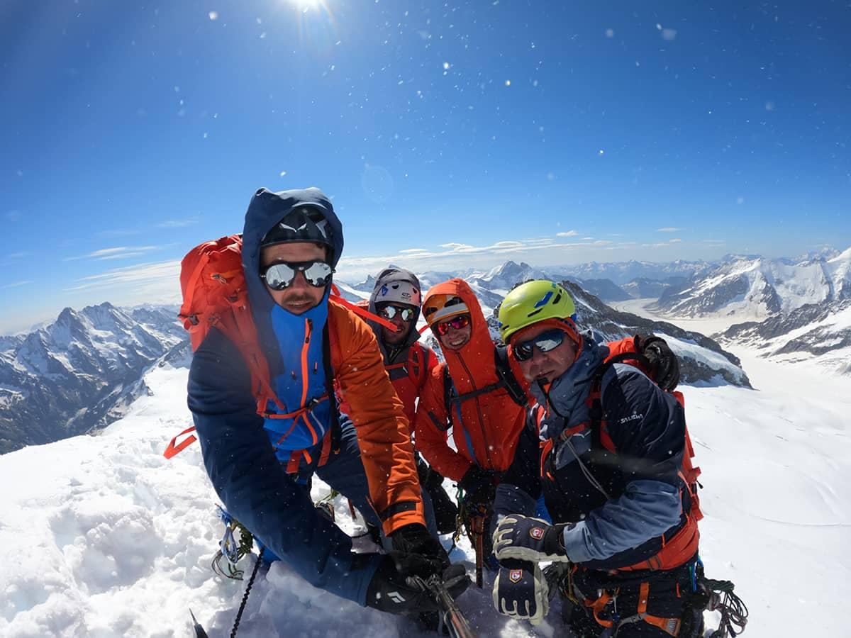 Andreas Stippler und weitere bei einer Bergtour