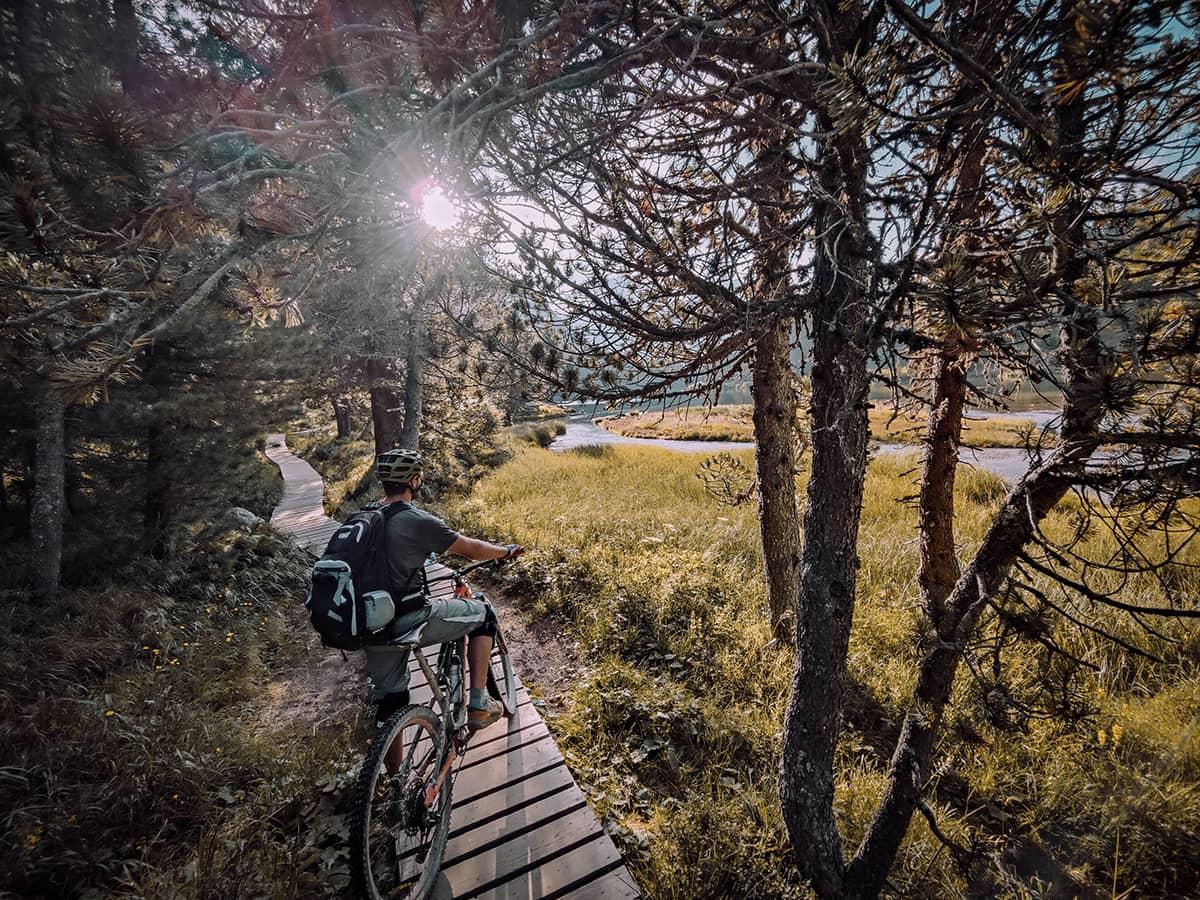 Radreise planen - Mila auf dem Bike