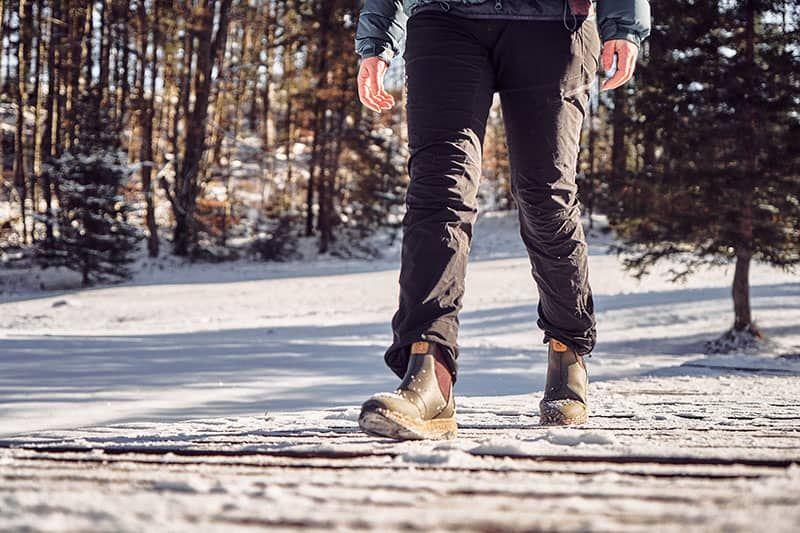 vegane damen chelsea boots schnee spaziergang