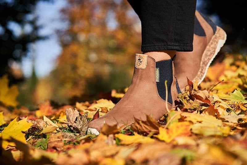 warme chelsea boots für damen aus leder