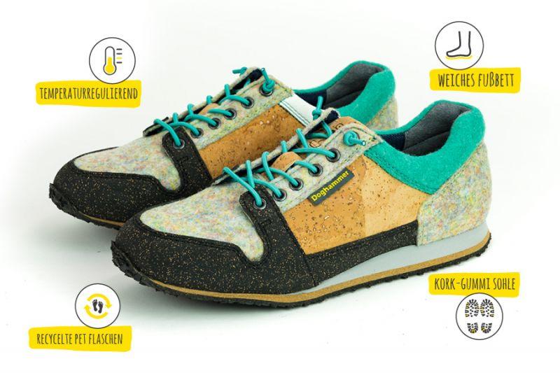 Schuh aus Kork Produktbeschreibung