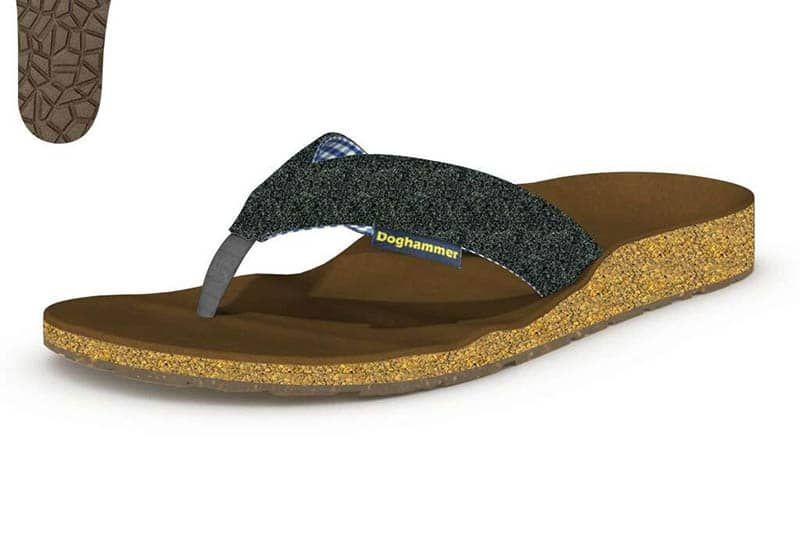 korkfußbett sandale